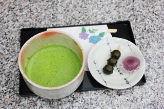 抹茶と和菓子
