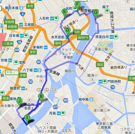 築地周辺の地図