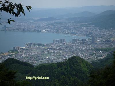 比叡山山頂から