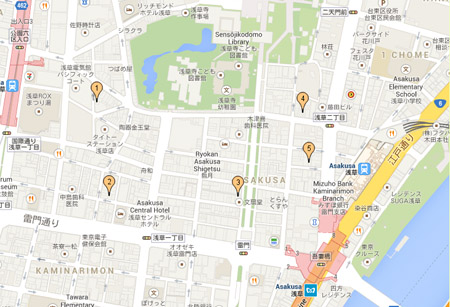 浅草レストラン地図