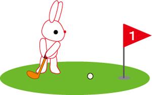 うさぎゴルファー