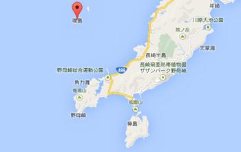 軍艦島の地図