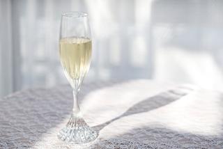 シャンパンと美しいグラス