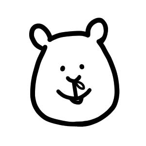 鼻水を出すクマ