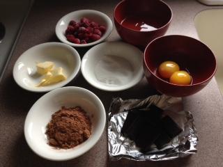 チョコケーキ材料