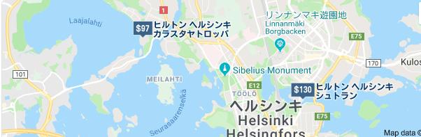 ヒルトンヘルシンキ地図