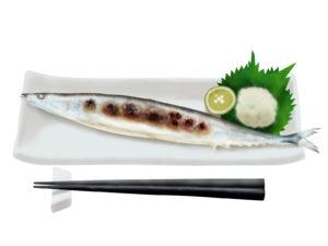 サンマの焼き魚