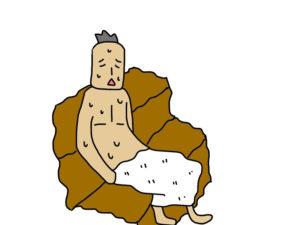 サウナで汗をかく男性